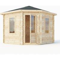 Mercia 34mm Double Glazed Corner Cabin - 3m x 3m