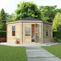 Mercia Corner Cabin - 44mm - Double Glaze - 4 x 4m