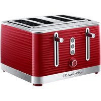 Buy Russell Hobbs 24382 Inspire 4 slot Toaster - Red - Robert Dyas
