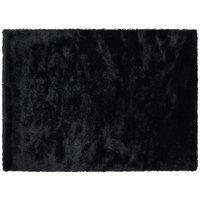 Robert Dyas Shimmer Shaggy Rug 80 x 150 cm - Black