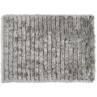 Robert Dyas Carved Glamour Rug 80 x 150 cm - Silver