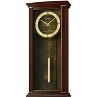 Seiko Dual Chimes Wooden Wall Clock with Pendulum