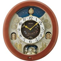 Seiko Melodies in Motion Wall Clock with Rotating Pendulum