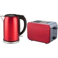 Buy Prestige 61227 Pearlescent 1.7L Kettle and 2-Slice Toaster Set - Red - Robert Dyas