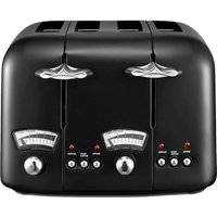 Buy Delonghi De'Longhi CTO4BK Argento 1600W Stainless Steel Four Slice Toaster - Black - Robert Dyas
