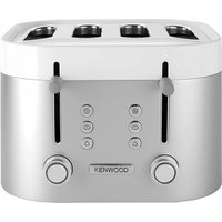 Buy Kenwood TFM400TT K-Sense Four-Slice Toaster 2000W Stainless Steel - Silver/White - Robert Dyas