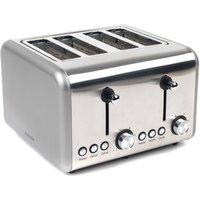 Buy Salter EK3352TITANIUM Metallics Polaris 4-Slice 1500W Toaster - Titanium - Robert Dyas