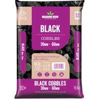 Robert Dyas Meadowview Stone Black 30-60mm Cobbles - Poly Bags