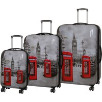 Rock Montana Expandable 8 Wheel Hard Shell Spinner Suitcase Big Ben (3pc set: 55/72/82cm)