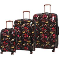 Rock Montana Expandable 8 Wheel Hard Shell Spinner Suitcase Dark Floral (3pc set: 55/72/82cm)