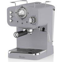 Swan SK2210GRN Retro Pump Espresso Coffee Machine - Grey