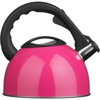 Premie Housewares Premier Housewares 2.5L Stainless Steel Whistling Kettle - Hot Pink