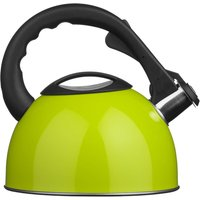 Premier Housewares 2.5L Stainless Steel Whistling Kettle - Lime Green