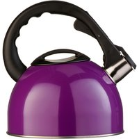 Premier Housewares 2.5L Stainless Steel Whistling Kettle - Purple