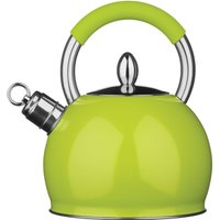 Premier Housewares 2.4L Stainless Steel Whistling Kettle - Lime Green