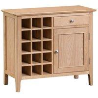 Robert Dyas Cranbrook Natural Oak Wine Cabinet