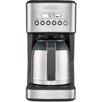 Robert Dyas Crux CRUX005 10 Cup Thermal Programmable Coffee Maker - Black, Silver and Rose Gold