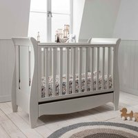 Robert Dyas Tutti Bambini Roma Mini Sleigh Cot Bed with Drawer - Linen