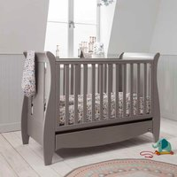 Robert Dyas Tutti Bambini Roma Mini Sleigh Cot Bed with Drawer - Truffle Grey