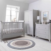Robert Dyas Tutti Bambini Roma 3 Piece Cot, Chest Changer and Wardrobe Room Set - Dove Grey