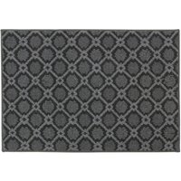 JVL 80x120cm Florence Entrance Runner Mat - Grey/Black