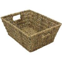 JVL Rectangular Seagrass Storage Basket 37.5 x 28.5 x 15.5 cm