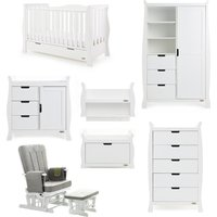 Robert Dyas Obaby Stamford Luxe Sleigh 7 Piece Room Set White