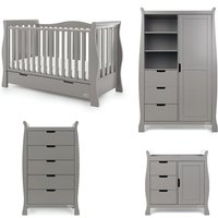 Robert Dyas Obaby Stamford Luxe Sleigh 4 Piece Room Set - Taupe Grey