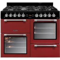 Robert Dyas Leisure CK100F232R 100cm Cookmaster Dual Fuel Range Cooker - Red