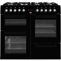 Beko KDVF100K Freestanding 100cm Double-Oven Range Cooker - Black