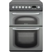 Hotpoint 60HEGS 60cm Double Oven Electric Cooker - Graphite