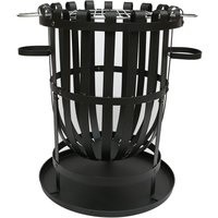 Charles Bentley Log Burner Brazier wiith BBQ Grill