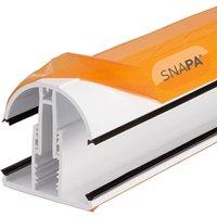 Robert Dyas Snapa Lean-to Bar Top Cap White 4m