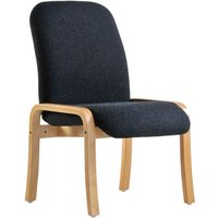Dams Yealm Armless Reception Chair - Charcoal