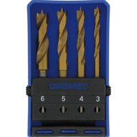 Dremel 4-Piece Wood Drill Bit Set