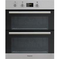 Hotpoint DU2540IX Built-Under Stainless Steel Double Electric Fan Oven - Silver
