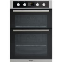 Hotpoint DD2844CIX Built-In Double Electric Fan Oven - Stainless Steel