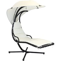 Charles Bentley Patio Swing Chair Seat Lounger - Cream