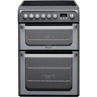 Hotpoint Ultima HUE61GS Electric Cooker - Graphite
