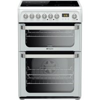 Hotpoint Ultima HUE61PS Electric Cooker - White