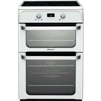 Hotpoint Ultima HUI612P Freestanding Electric Double Oven Cooker - White