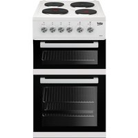 Beko KD531AW Double Oven Electric Cooker - White