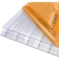 Robert Dyas Axiome Clear 16mm Polycarbonate Roofing Sheet 690 x 4000mm