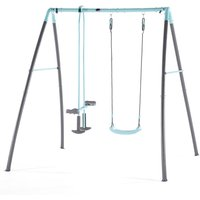 Plum Premium Metal Single Swing and Glider with Mist