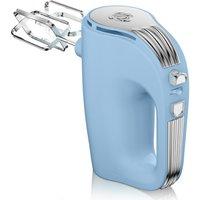 Swan Retro 5 Speed Hand Mixer - Blue