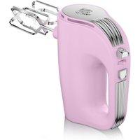 Swan Retro 5 Speed Hand Mixer - Pink