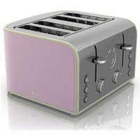 Buy Swan Retro 4 Slice Toaster - Pink - Robert Dyas