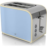 Buy Swan Retro 2 Slice Toaster - Blue - Robert Dyas