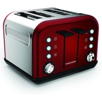 Buy Morphy Richards Accents 4-Slice Toaster - Red - Robert Dyas