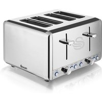 Buy Swan 4-Slice Polished Stainless Steel Toaster - Robert Dyas